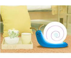 Signstek Lampe Enfant, Lampe Chevet, Lampe Table, Lampe Nuit, Lampe Réveil de USB Rechargeur en Forme d'Escargot (Bleu)