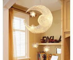 Nilight Plafonnier pour chambre d'enfant en forme de Lune et d'étoiles