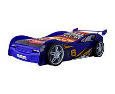 Vipack SCNR200B Night Racer Lit Voiture pour Enfant MDF Bleu 217 x 111 x 64 cm