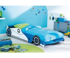 Demeyere 203893 Grand Prix Lit Voiture Extensible MDF Bleu 101,5 x 209 x 40,5 cm