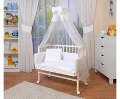 WALDIN Lit cododo berceau tout équipé pour bébé - blanc laqué - 6 coloris disponibles,blanc