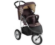 knorr-baby Joggy S Poussette sportive style buggy à 3 roues pneumatiques Chocolat/beige