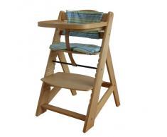 Chaise Haute en bois Ajustable Chaise bébé Escalier chaise haute NATURE HC6551-D01vert coloré