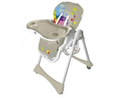 Chaise haute pliante évolutive Baby Fox Beige