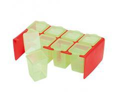 Clevamama Le Repas de Bébé Boîte de Nourriture Rouge/Vert