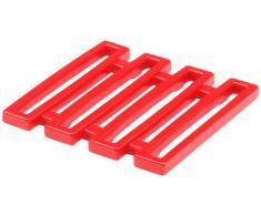 Zak Designs 0078- 0900E Dessous de plat rouge mélamine