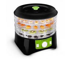 Klarstein Appleberry - Deshydrateur electrique pour fruits, viandes, légumes (400W, 4 étages, sans BPA) - noir/vert