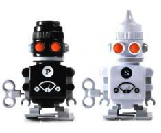 SUCK UK Robots salière et poivrière