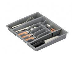 Zeller 24887 Range-couverts modulable en plastique 29-50 x 38 x 6,5 (Gris)