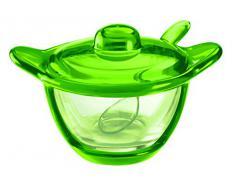 Guzzini 23170044 Coupelle à Fromage/Sucrier Vert Acide 10 x 16,5 x 12,5 cm