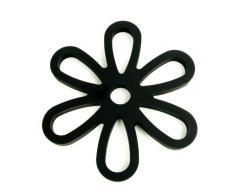 Yoko Design 1206 Dessous de Plat Magnétique Silicone/Platine Noir 16 x 14,30 x 0,9 cm