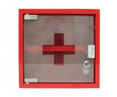 Zeller 18467 Armoire à pharmacie en métal 25 x 12 x 25 cm (Rouge)