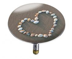 Wenko 21842100 Pluggy Bouchon de Baignoire Shell Heart Multicolore Taille XXL Dimensions 7,5 x 7,5 x 5,5 cm