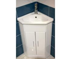 Un lavabo angle dans votre salle de bain livingo for Meuble salle de bain d angle avec vasque
