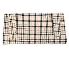 niceeshop(TM) Boîte de Tissu de la Visière de Voiture Clip Porte-serviette Produits de l'automobile, Motif à Carreaux Beige