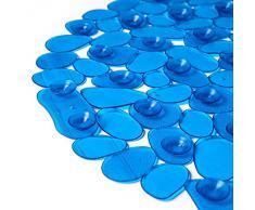 Tatkraft Mare Tapis Antiderapant Bleu pour Baignoire et Cabine de Douche Vinyle 68X35cm