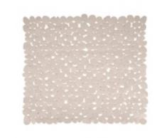 MSV 140895 Galets Tapis de Douche PVC Beige 53 x 53 x 0,1 cm