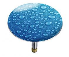 Wenko 21844100 Pluggy Bouchon de Baignoire Waterdrops Multicolore Taille XXL 7,5 x 7,5 x 5,5 cm