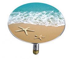 Wenko 21841100 Pluggy Bouchon de Baignoire By the Sea Multicolore Taille XXL Dimensions 7,5 x 7,5 x 5,5 cm
