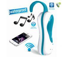Pyle Haut-parleur de douche étanche Bluetooth avec microphone intégré et radio FM Violet