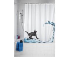 Wenko 20052100 Rideau de Douche en Textile Cat Anti Moisissure Dimensions 180x200 cm