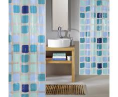 Kleine Wolke 4956721305 Sonny Rideau de Douche en PEVA Bleu 180 x 200 cm