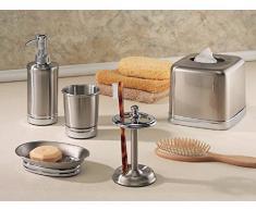 InterDesign York, Porte-brosse à dents en métal pour les coiffeuses de salle de bain - Finition fendu