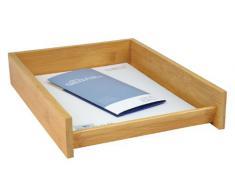 Wedo 061807 Corbeille à courrier A4 en bambou clair Empilable