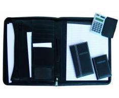 Idena Set conférencier zippé A4 Carnet d'adresses/calculatrice/bloc-notes (Import Allemagne)