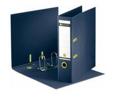 Leitz 10040069 Classeur à Levier en Carton Format A4 Dos de 80 mm 600 Feuilles - Bleu Foncé/Vert