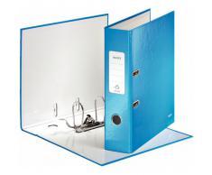 Leitz WOW 10050036 Classeur à Levier en Carton Format A4 600 Feuilles Etiquette de 80 mm - Bleu Brillant