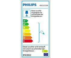 Philips Lampe de bureau Wonder Technologie Fluorescent luminaire dintérieur Métallique Verre