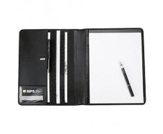 ALASSIO - Conférencier, serviette-écritoire CREMONA format A4, cuir Nappa, noir
