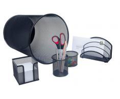Wedo Office 065101 Set de bureau complet 5 pièces Noir