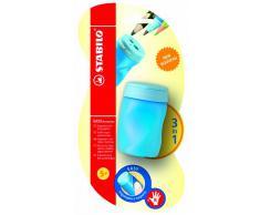 STABILO EASYsharpener - Blister Taille-crayon ergonomique bleu avec réservoir - Droitier