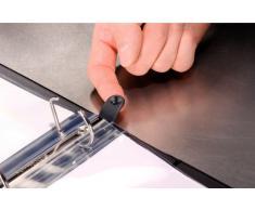 Leitz - Leitz Softclick - 42000001 - Classeur à anneaux personnalisable - A4 - Capacité de 190 feuilles - Carton recouvert de polypropylène - 4 anneaux - Blanc