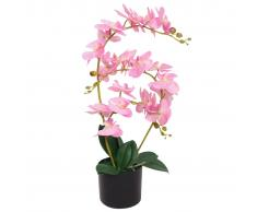 vidaXL Orchidea Artificiale con Vaso 65 cm Rosa