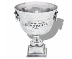 vidaXL Trofeo Coppa di Champagne Refrigeratore Alluminio Argento
