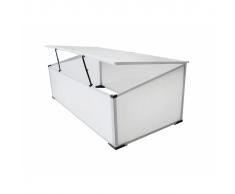 vidaXL Mini serra-orto balcone e terrazzo, policarbonato,2 aperture