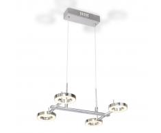 vidaXL Lampadario LED con 4 luci circolari