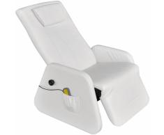 Poltrona massaggiante reclinabile gravità zero ecopelle bianca