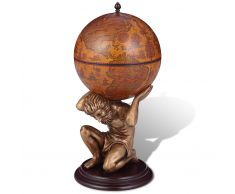 Mobile bar / vino a forma di globo Atlas 42 x 42 x 85 cm