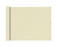 vidaXL Paravento da Balcone in Tessuto Oxford 90x600 cm Crema