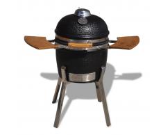 vidaXL Barbecue Kamado griglia con affumicatore in ceramica 81 cm