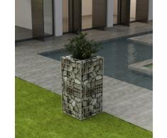 vidaXL Gabbione Fioriera in Acciaio 50x50x100 cm