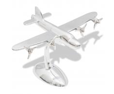 vidaXL Aeromodello in alluminio decorazione scrivania
