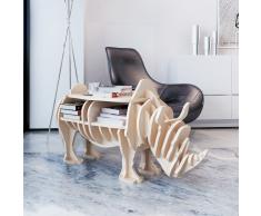 vidaXL Tavolo Rinoceronte in legno per la casa Mensola libri