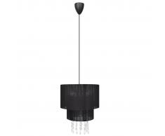 vidaXL Lampada di soffitto pendente, Lampadario cristallo nero
