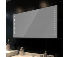 vidaXL Specchio da bagno 100 x 60 cm( L H) con luci led