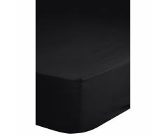 Emotion Lenzuolo con Angoli Elasticizzati in Jersey 90/100x220 cm Nero 0200.04.43